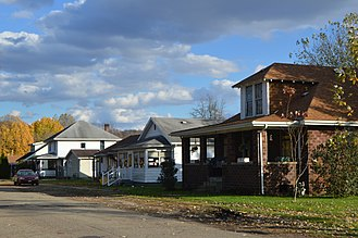 Chauncey, Ohio - Jacobs Street houses