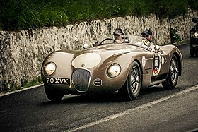 Jaguar C-Type at Mille Miglia 2012.jpg