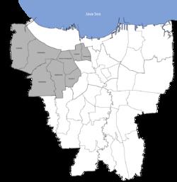 Taman Sari ist der östlichste Bezirk