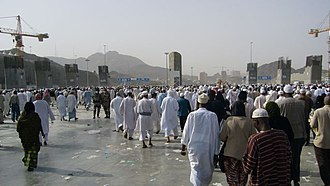 Jamaraat Bridge - The new partially completed Jamarat Bridge, Hajj 2007.
