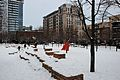 Jamison Square covered in snow Feb 2014 - viewed from south.jpg