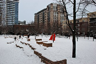 Contact II - Image: Jamison Square covered in snow Feb 2014 viewed from south