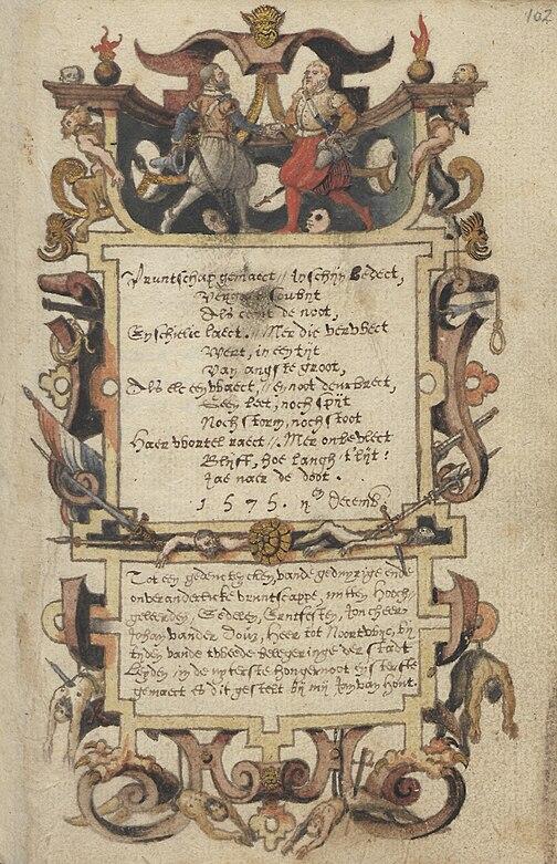Jan van Hout - Vruntschap - 1575