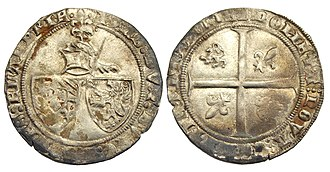 John the Fearless - Double groat or 'Braspenning', struck under John the Fearless, Duke of Burgundy