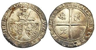 John the Fearless - Double groat or 'Braspenning', struck under John the Fearless, Duke of Burgundy