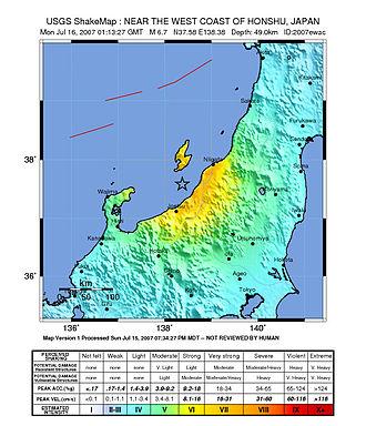 2007 Chūetsu offshore earthquake - Image: Japan quake July 16.2007