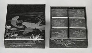 Kōbako - Set of boxes for storing incense wood, late 19th-early 20th century