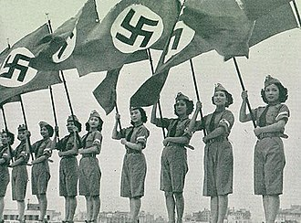 Non-aligned Scouting and Scout-like organisations - Japanese young ladies stage show for Hitlerjugend in 1938