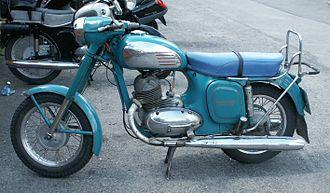 František Janeček - Early Jawa 350 motorcycle