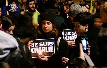 """""""Je Suis Charlie"""" Berlin 07.01.2015"""