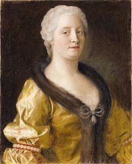 Maria Theresa in a fur-trimmed dress 1743