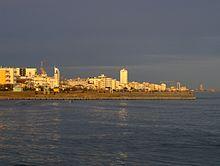 La spiaggia di Jesolo al tramonto, 2009 - vista della zona del Lido Centro