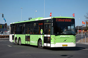 Vest Buss - A FynBus Vest Center H built on Volvo B12BLE 6x2, operated by Tide Bus in Odense, Denmark.
