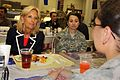 Jill Biden shares lunch with female soldiers at the Oasis Dining Facility on Camp Victory, Iraq, July 4, 2010.jpg