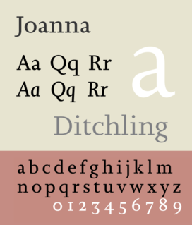 Joanna (typeface) Typeface designed by Eric Gill