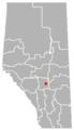 Joffre, Alberta Location.png