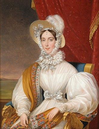 Maria Anna of Savoy - Portrait by Johann Nepomuk