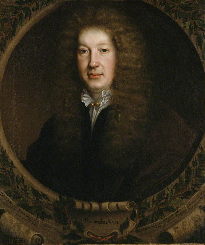 John Dryden by John Michael Wright, 1668 (detail), National Portrait Gallery, London