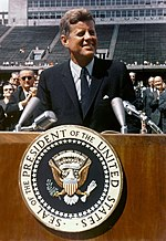John F. Kennedy speaks at Rice University