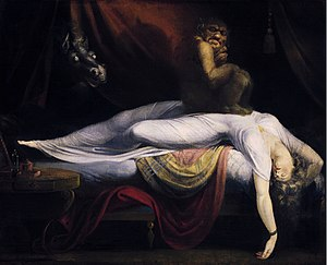 The Ghost of a Flea - Henry Fuseli, The Nightmare. Oil on canvas, c. 1781. Detroit Institute of Arts