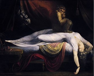 1781 in art - Henry Fuseli, The Nightmare, 1781, Detroit Institute of Arts