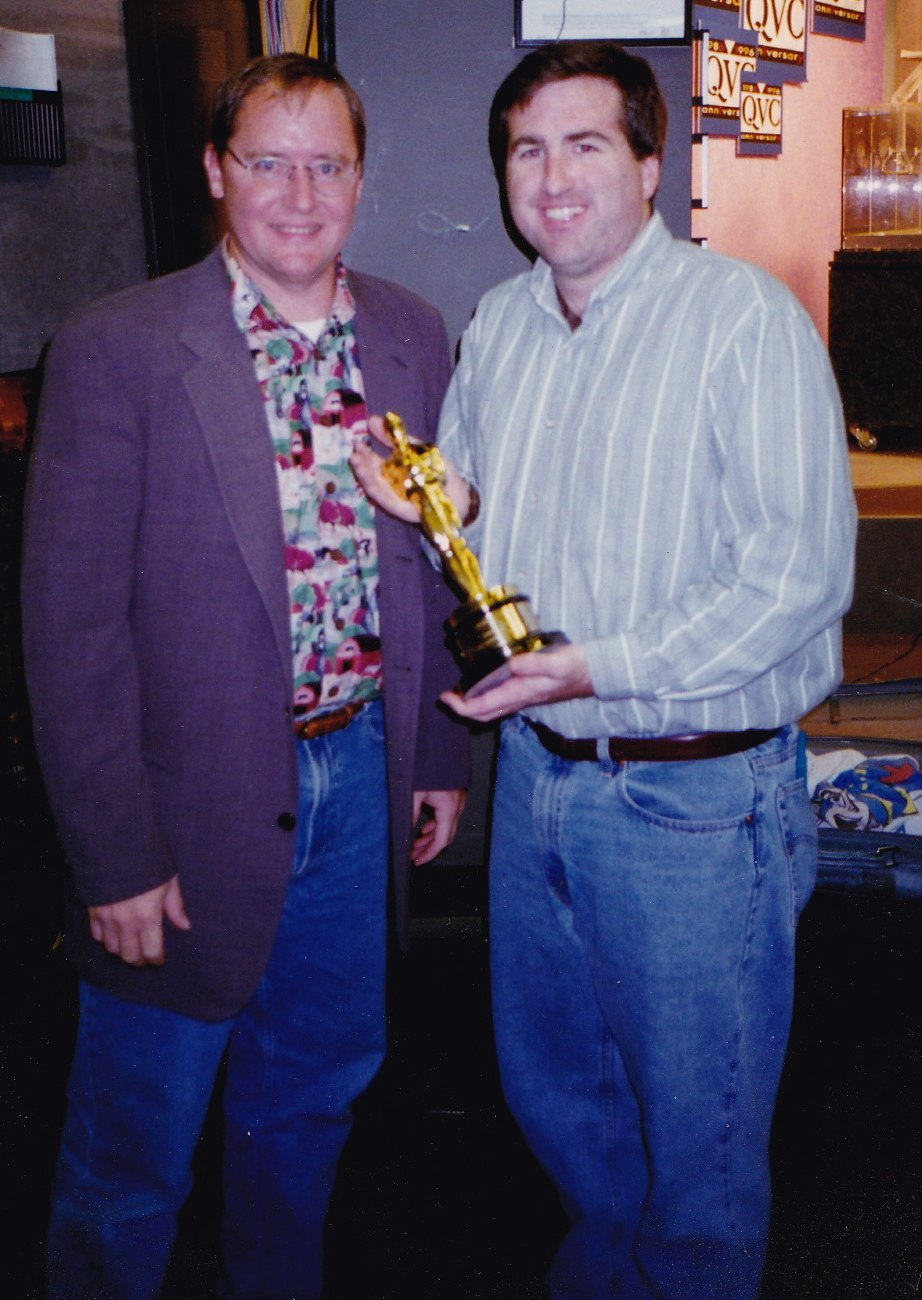 John Lasseter, Jim Breslin, 1996 (crop)