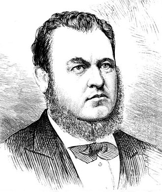 John Lucas (Australian politician) - 1875 engraving