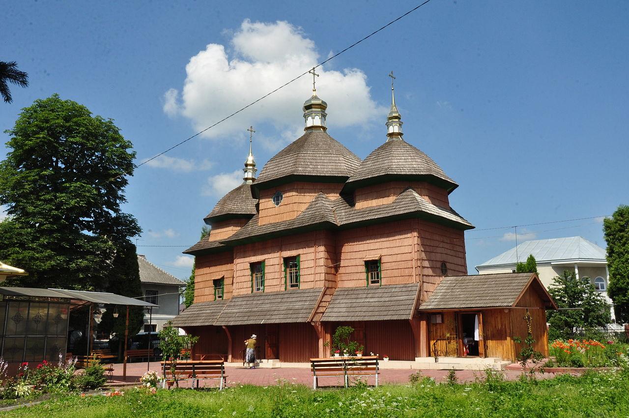 Деревянная церковь Св. Иоанна Крестителя в Городке (в нынешнем виде отстроена в 1755 году)