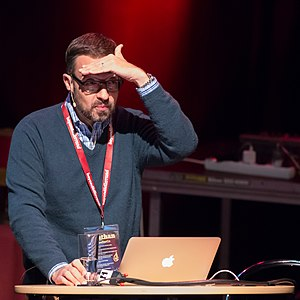 Jonathan Hoefler - Hoefler speaking in 2014.