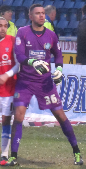 Jordan Archer - Archer playing for Wycombe Wanderers in 2013