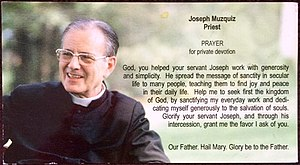 Joseph Muzquiz - Rev. Joseph Muzquiz on a prayer card