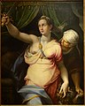 Judith and Holofernes, by Orazio Samacchini, Italian, 1532-1577, oil on canvas - Middlebury College Museum of Art - Middlebury, VT - DSC08153.jpg