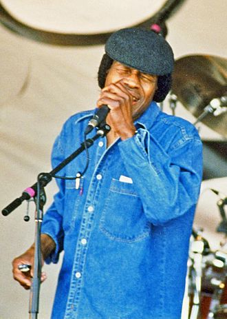 Junior Wells - Wells performing at the New Orleans Jazz & Heritage Festival, 1996