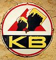 KB bière enamel advertising sign.JPG