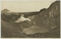 KITLV - 26878 - Kleingrothe, C.J. - Medan - Sulphur lake at Mount Sinabung. At the left Mount Sibayak, East Coast of Sumatra - circa 1905.tif