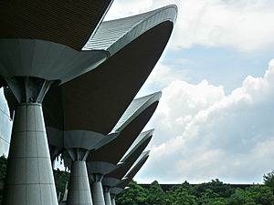 Kuala Lumpur International Airport - KLIA Main terminal architecture