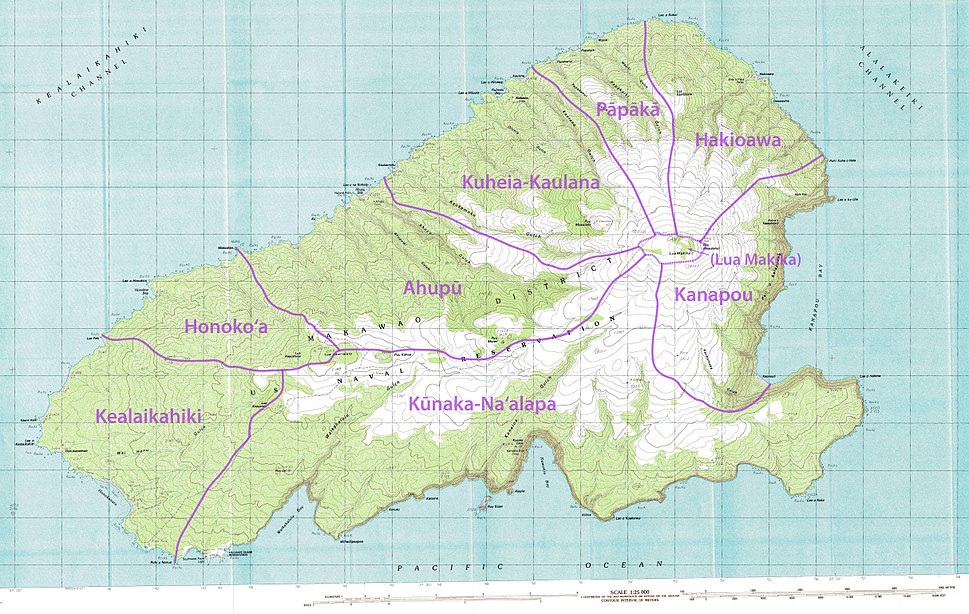 Kahoolawe - Map of the Administrative Divisions