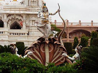 Kaliya - Statue depicting Kaliya daman. Taken at Swaminarayan Temple, Bhuj, Kutch