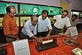 Kalyan Kumar Mukherjee And NCSM Personnel Examine Soshunograph - Jagadish Chandra Bose Museum - Bose Institute - Kolkata 2011-07-26 4065.JPG