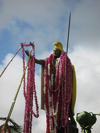 Kamehameha statues - Image: Kamehameha Day