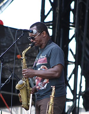 Karl Denson - Denson performing with The Greyboy Allstars at the Hangout Music Festival in 2012
