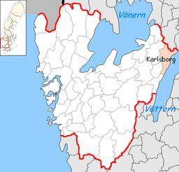 Karlsborgs kommun invånare