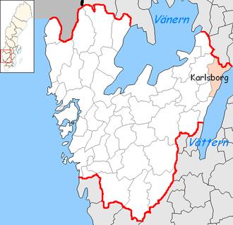 Karlsborg Municipality - Image: Karlsborg Municipality in Västra Götaland County