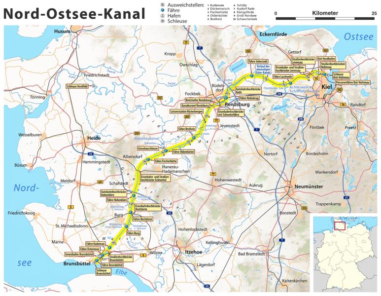 Karte Ostsee.Vaizdas Karte Nord Ostsee Kanal Png Vikipedija