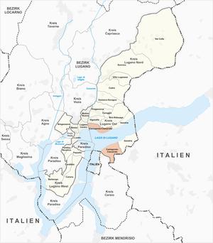 Castagnola-Cassarate - Image: Karte Quartier Castagnola Cassarate 2013