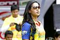 Karthika Nair at CCL 3's Chennai Rhinos vs Bhojpuri Dabanggs' match.jpg