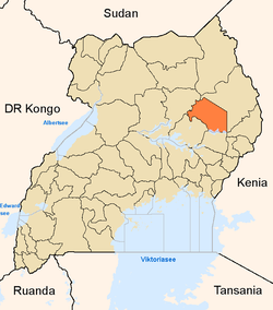 District location in Uganda