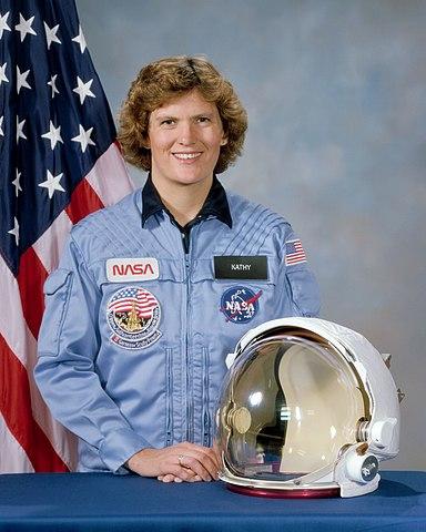 Astronaut Kathy Sullivan PhD, NASA photo Source: Wikipedia (www.jsc.nasa.gov unavailable September 2019) 384px-Kathryn_D._Sullivan.jpg