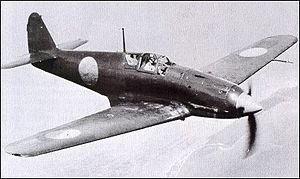 Kawasaki Ki-61 - Unusual wartime photo of a captured Ki-61 being tested by the USAAF