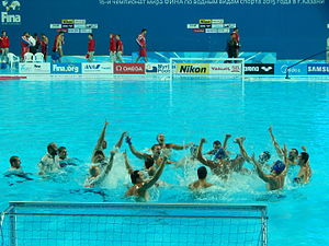 Water polo at the 2015 World Aquatics Championships – Men's tournament - Image: Kazan 2015 Water polo Men Gold medal match 215